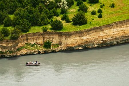 Boat on the Missouri River
